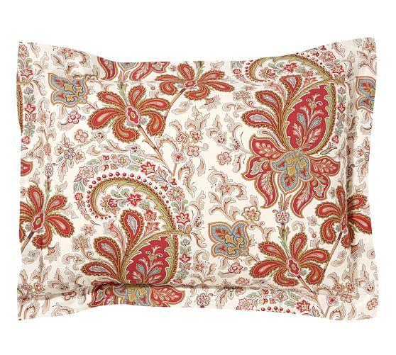 Charlie Paisley Organic Duvet Cover Amp Sham Red Pottery