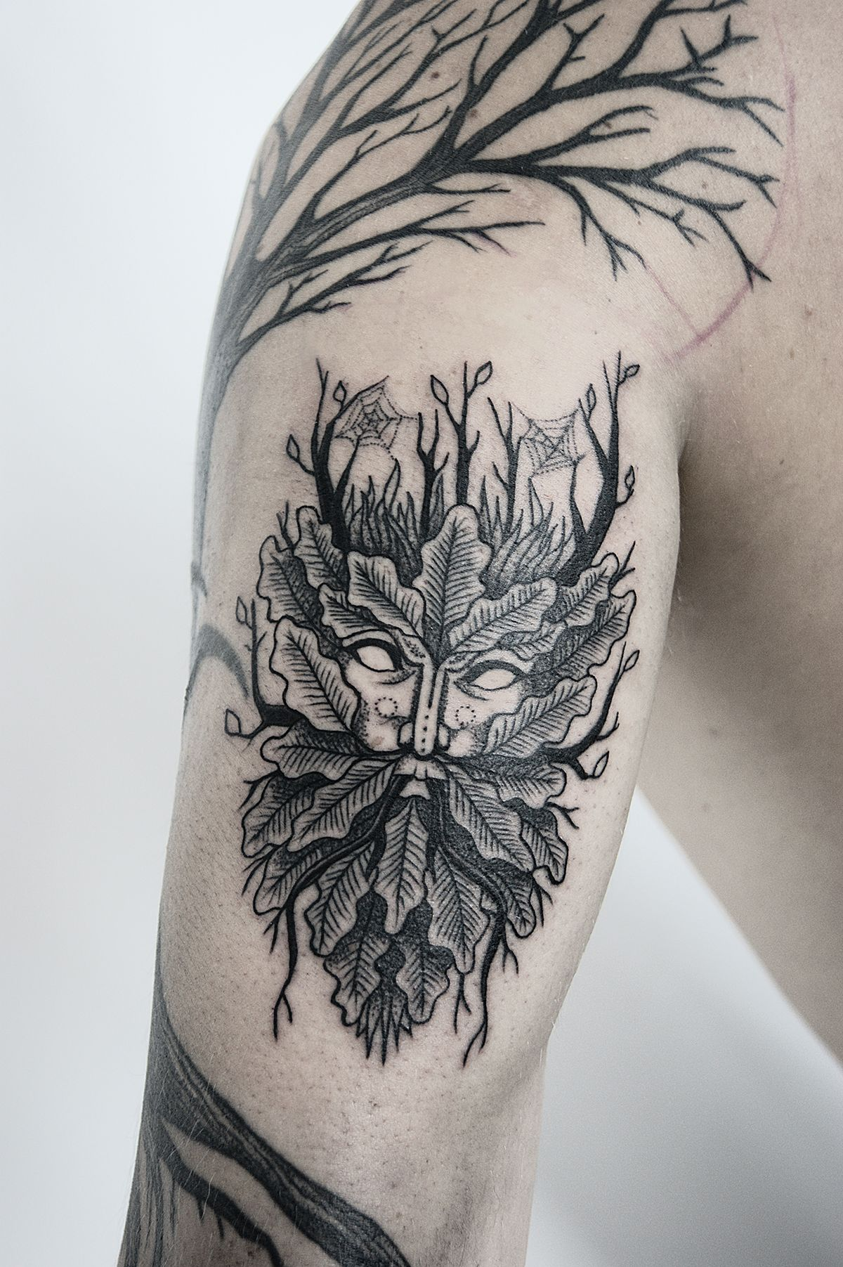 Green Man tattoo + design on Behance Green man tattoo