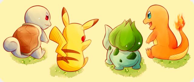 1aab4e6d8 Pikachu, Bulbasaur, Squirtle, and Charmander | Pokémon | Real ...