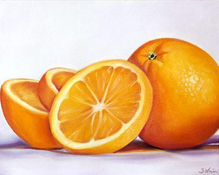Oranges   Sarah E. Wain   Colored pencil artwork, Fruit ...