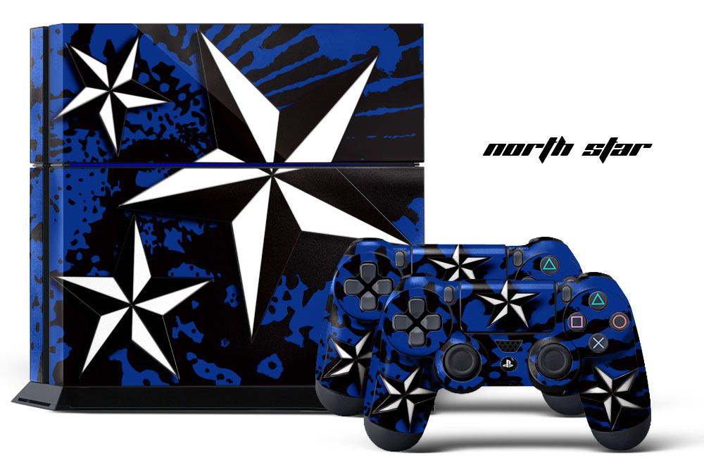 Sony ps4 playstation 4 slim custom mod skin decal cover sticker graphic upgrade playstation controllers gaming console