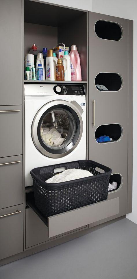 Schuller Washing Machine Unit With Put Out Support Mit Bildern Hauswirtschaftsraum Waschkuchendesign Wohnen