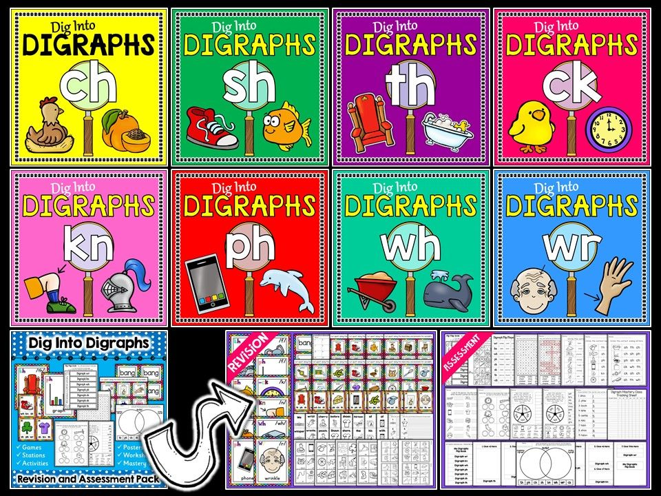 Phonics Digraphs Bundle Plus Revision and Assessment