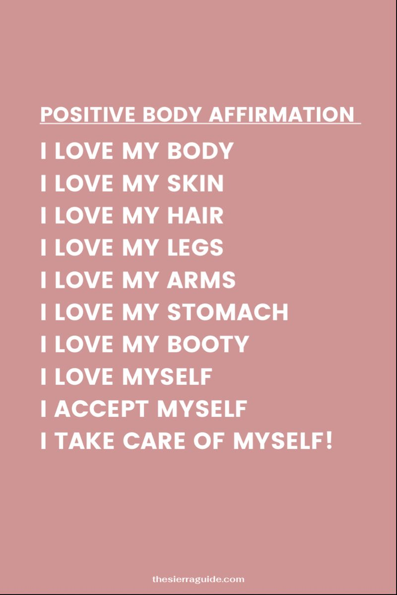 Body Positivity Affirmation For Your Mirror!