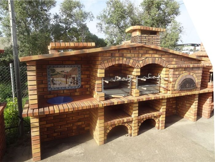 Picture of mediterranean brick barbecue fr0024f chill s - Barbacoas de obra rusticas ...
