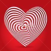 white heart on red background Optical illusion of 3D white heart red backgr white heart on red background Optical illusion of 3D white heart red background Optical illusi...