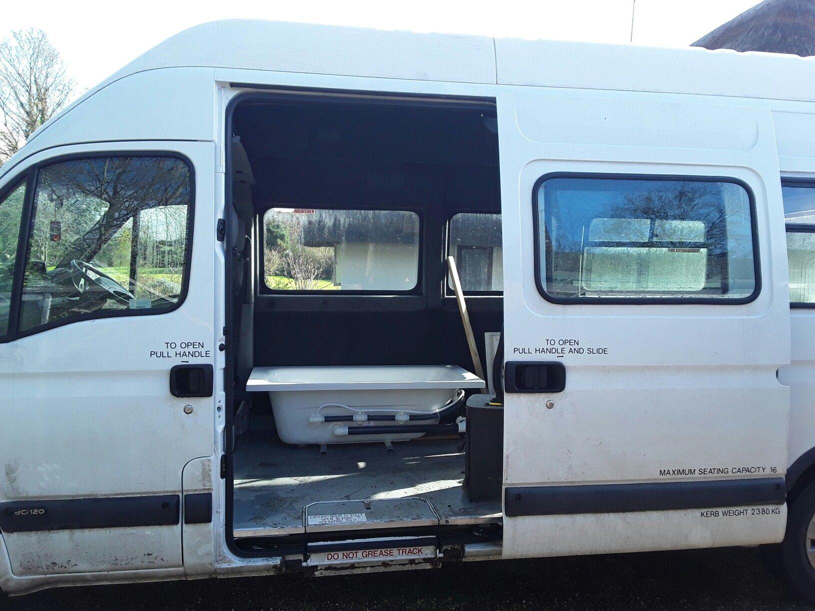 Hot Tub Jacuzzi Inside A Campervan Recreational Vehicles Campervan Hot Tub