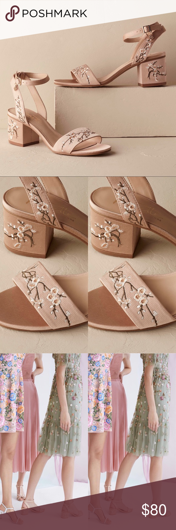 84a6d06b8deb4c Anthropologie x BHLDN Nanette Lepore Kierna Sandal Anthropologie x BHLDN  Nanette Lepore Kierna Embroidered Sandal MSRP