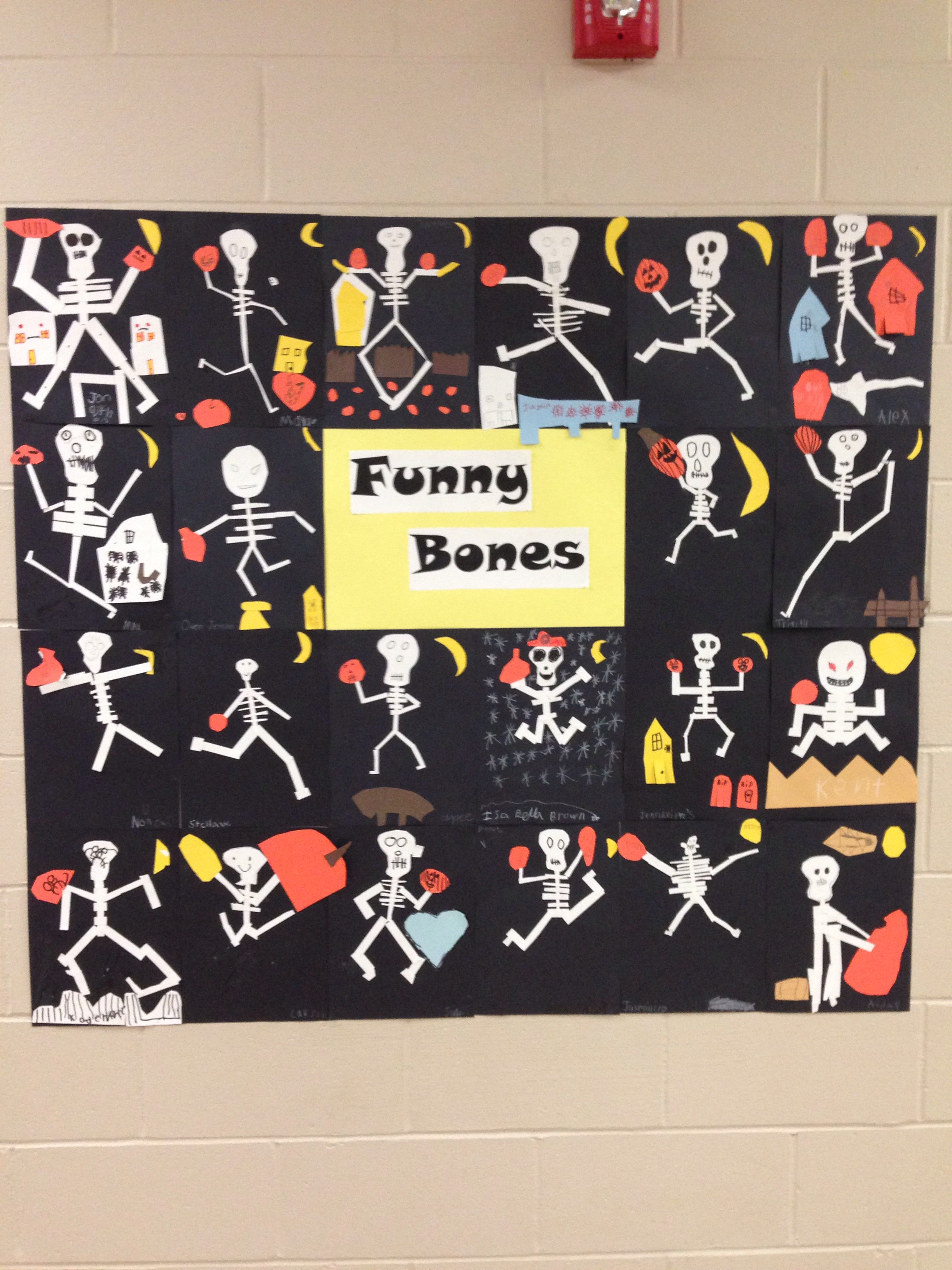 Halloween Bulletin Board Funny Bones I Love How Each Skeleton Is So