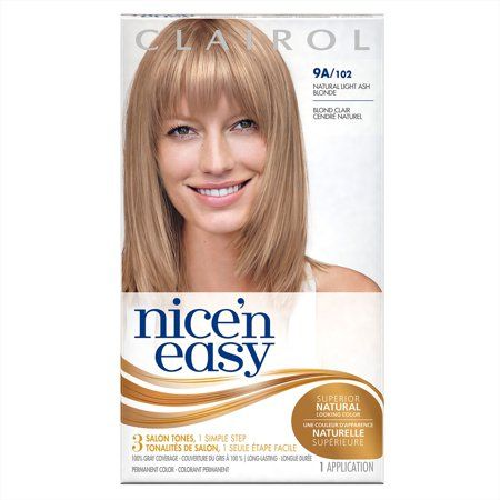 GREAT COLOR!   Clairol Nice 'n Easy Permanent Hair Color, 9A/102 Natural Light Ash Blonde, 1 Kit - Walmart.com #lightashblonde