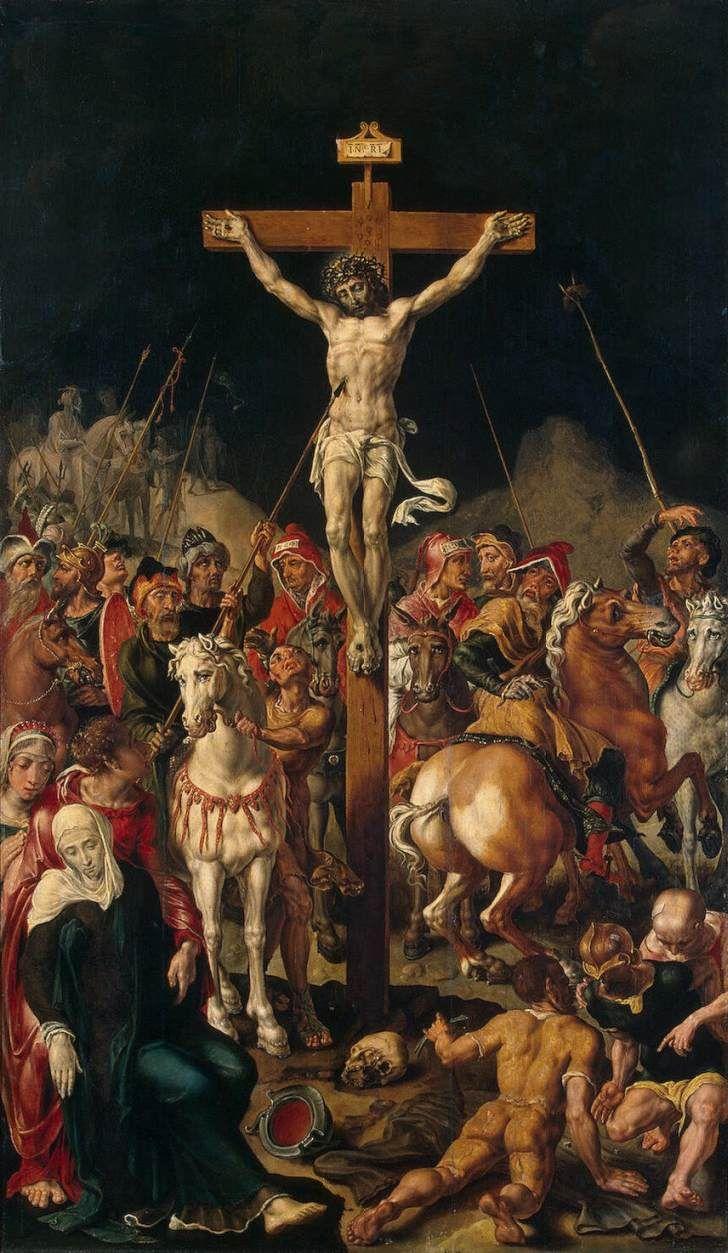 calvary-central-panel-of-a-triptych.jpg 728×1,253 pixels. Maerten van Heemskerck Marten Jacobsz Heemskerk van Veen.