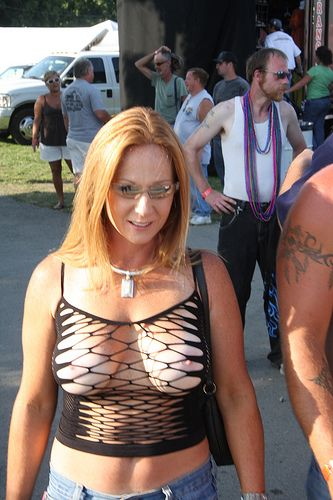 Useful piece Milf in sheer top