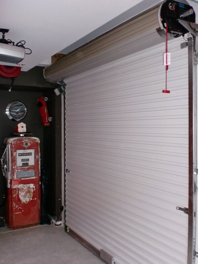 Space Saving Garage Door Garagedoor Garage Doors Garage Door Opener Installation Roll Up Garage Door