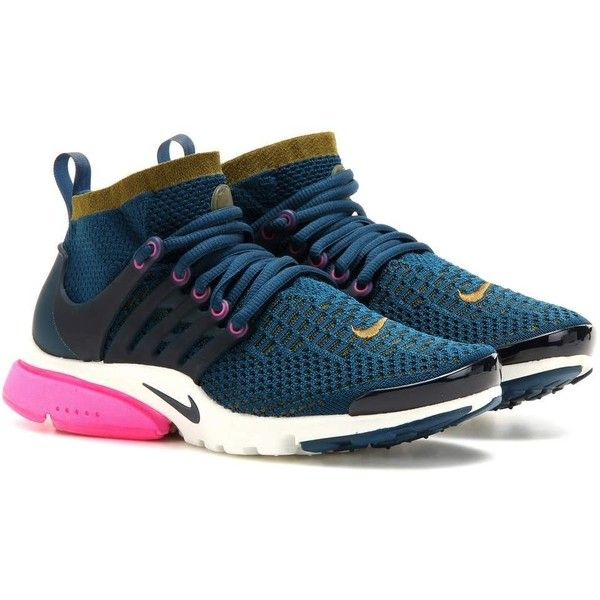 size 40 1ea49 08467 Nike Air Presto Ultra Flyknit Sneakers ( 170) ❤ liked on Polyvore featuring  shoes, sneakers, trainers, blue, nike shoes, blue shoes, flyknit trainer,  ...