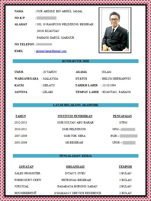 Format Resume Yang Betul Betul Format Resume Resume Format Download Job Resume Format Resume Folder