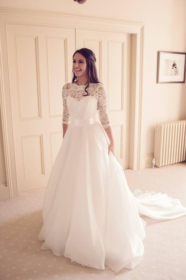 3789092e29 Beautiful Suzanne Neville  RelaBride Gracie wearing bespoke gown  Heather .