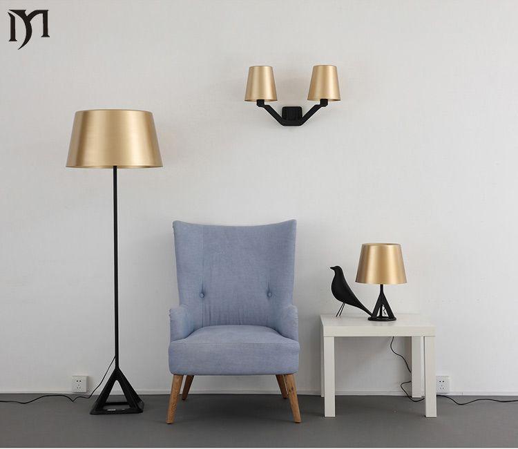 Indoor Base Floor Light Brass Modern Attractive Living Room Floor Hotel Lighting Bedside Floor Lamp Table Lamps For Bedroom Floor Lamp Table Dinning Room Decor
