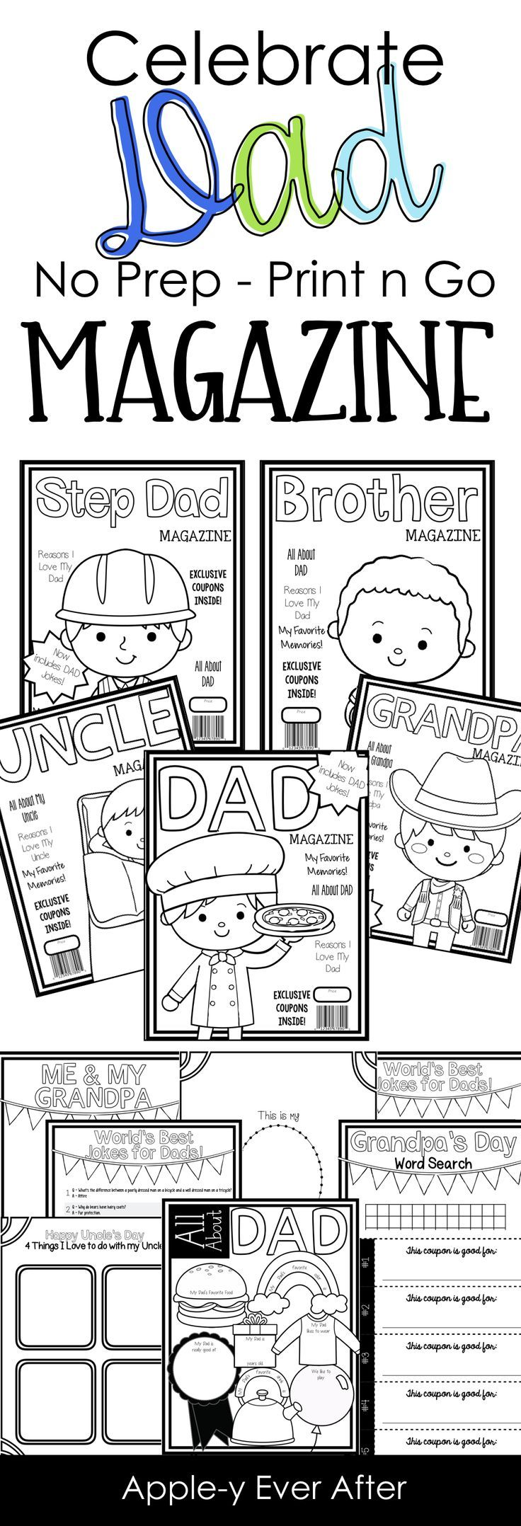 father u0027s day magazine no prep father figure dads and father