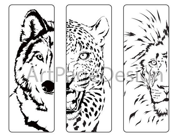 Сoloring Pages Animals Wolf Cheetah Lion Coloring For S Bookmark