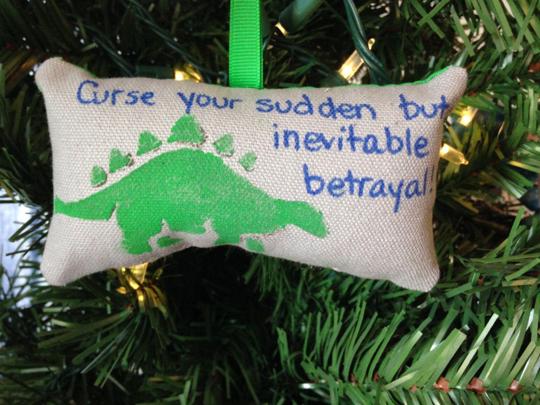 Dinosaur christmas ornaments - Wash S Curse Your Sudden But Inevitable Betrayal Dinosaur Christmas Ornament Firefly Browncoat Serenity Wash Mal Zoe Jayne Curse Betrayal