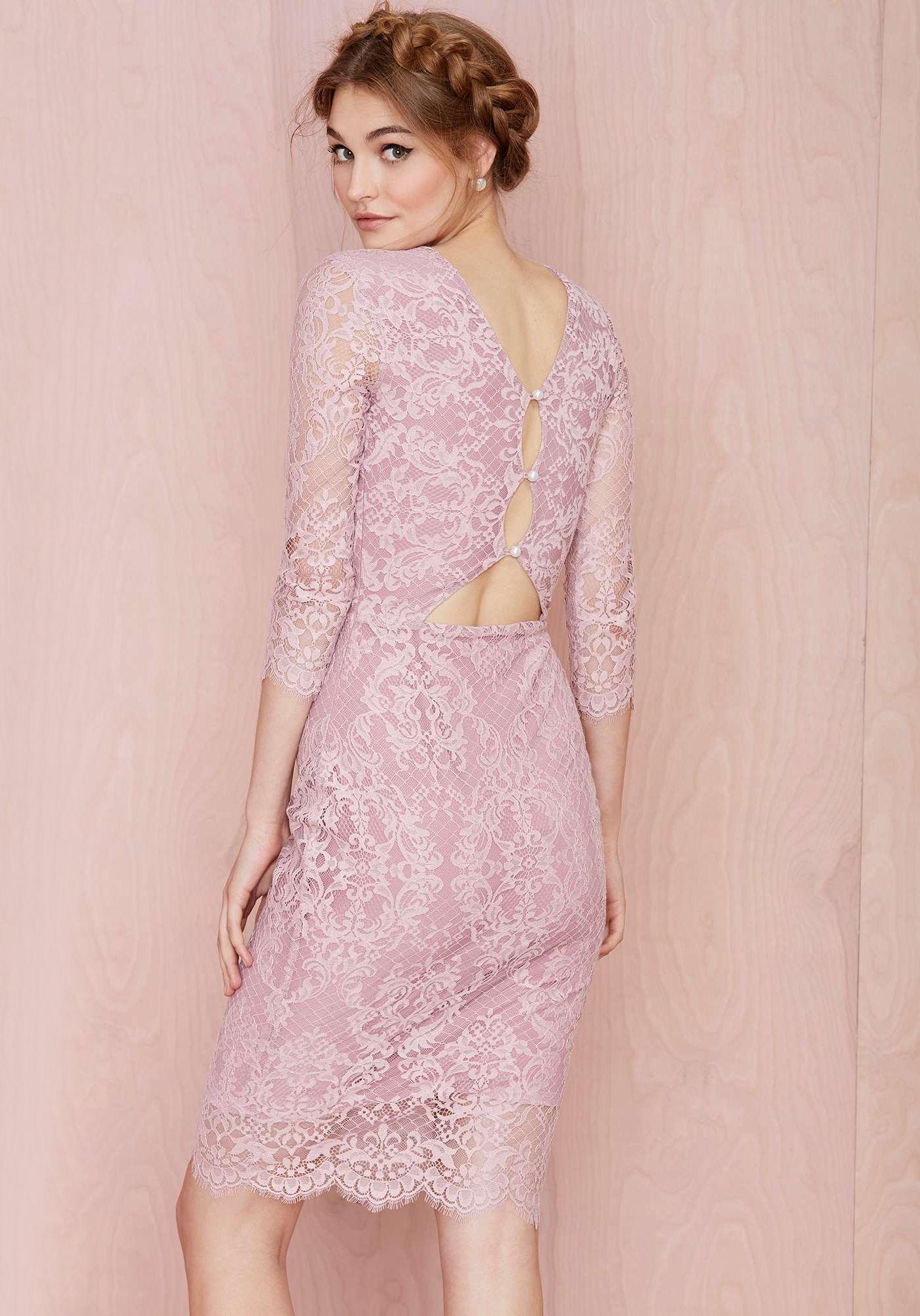 Vestido encaje manga larga-violeta 17.34 | Cosas para comprar ...