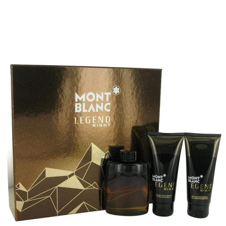 Montblanc Legend Night Mont Blanc Gift Set After Shave Balm The Balm After Shave