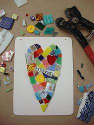 Mosaic Heart Plaque