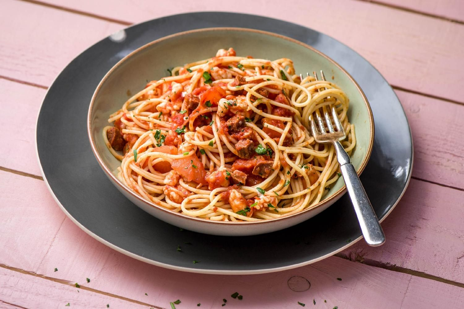 Tiger Prawn and Chorizo Spaghetti Recipe HelloFresh