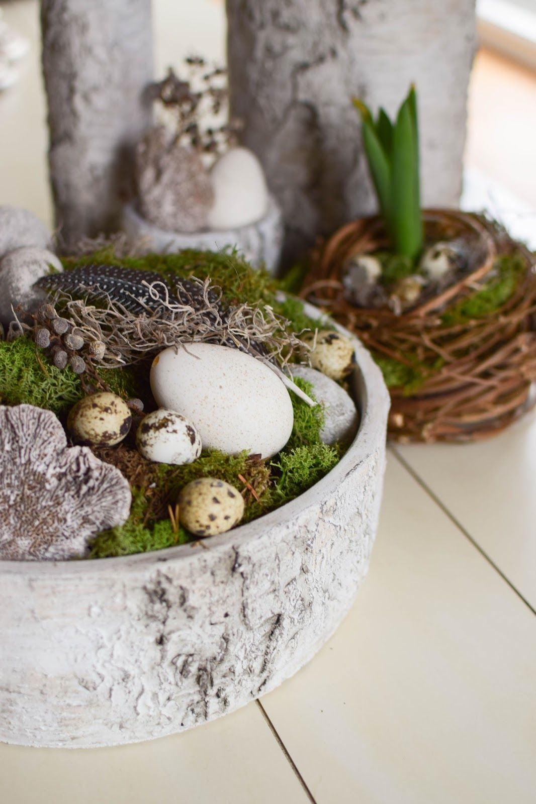 Diy Fruhlingsschale Fur Euren Tisch Deko Mit Naturmaterialien