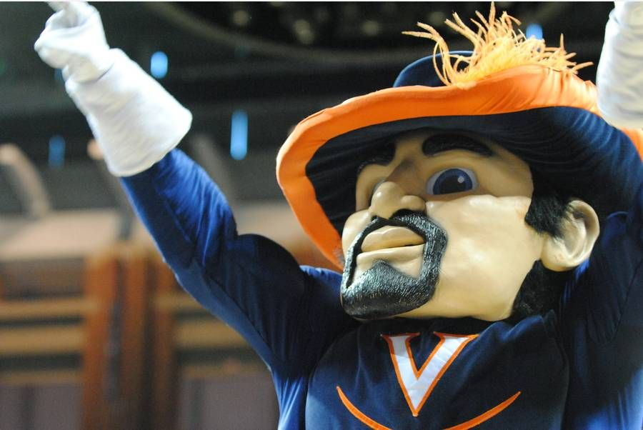 Virginia Cavaliers masked mascot The Cav Man Virginia
