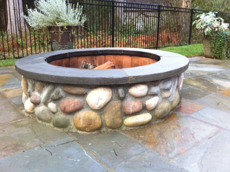 River Rock Fire Pit Jpg 800 598 Pixels Fire Pit With Rocks
