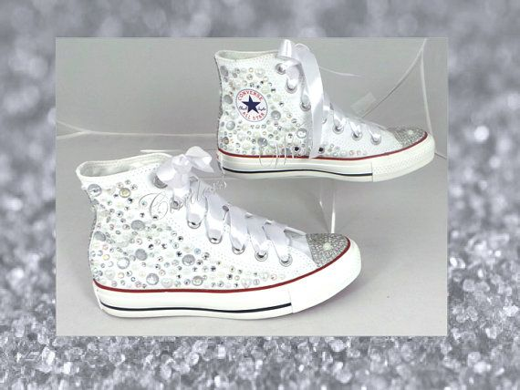 Bridal all over pearl and crystal converse / Pearl by CindersWish ...