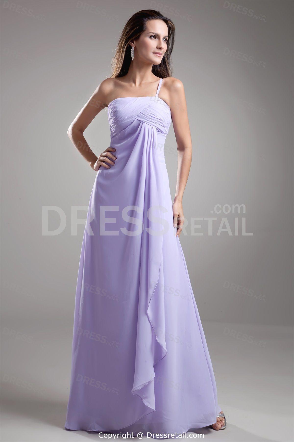 One strap wedding dress  Lavender Chiffon Bridesmaid Dresses   Dresses ueLavender Chiffon