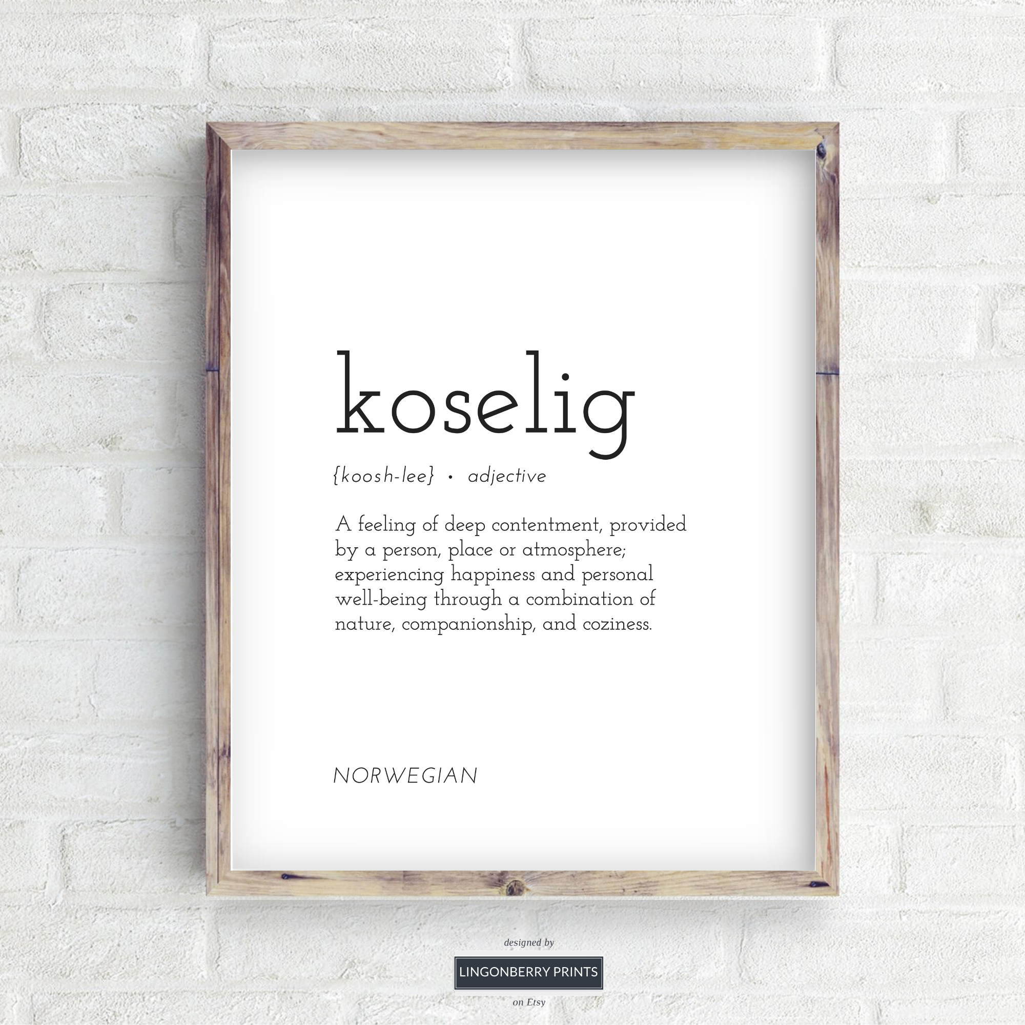 Koselig Definition Print Digital Download Cozy Cosy Word Etsy In 2020 Norwegian Words Peace Quotes Words Quotes