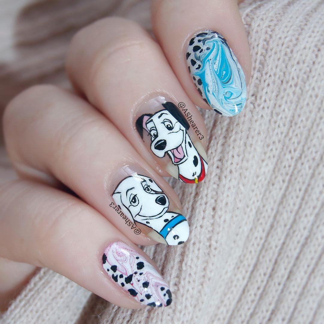 101 Dalmations Nail Art | Nail Nerd | Pinterest | 101 dalmations and ...