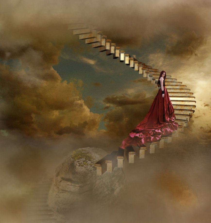 Paintings Of Stairways To Heaven