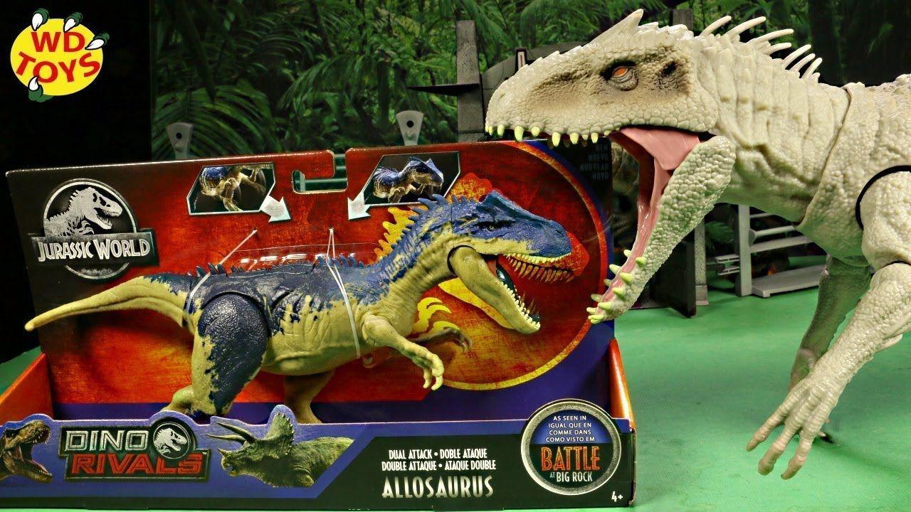 Jurassic World Dino Rivals Battle At Big Rock ALLOSAURUS Dinosaur 2019