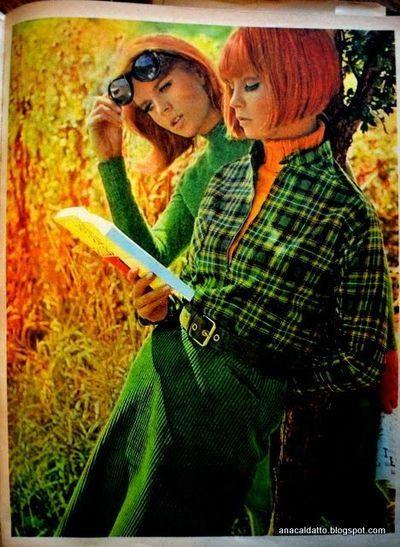 1960s: matching orange and green
