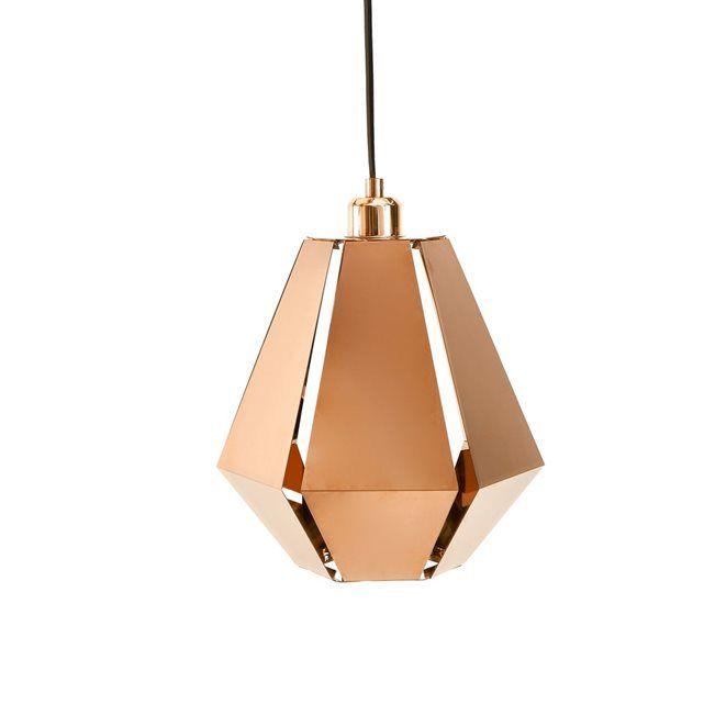 Suspension origami, cuivre, Takoi La Redoute Interieurs
