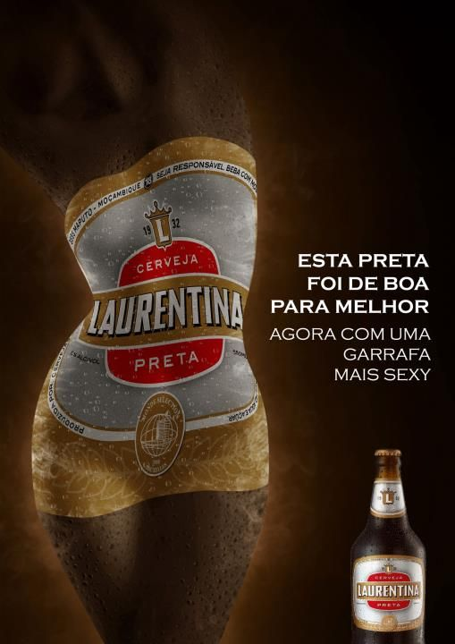 This is advertisement for men from the company beer company. They are trying to convince you by having picture of woman body dancing and also by the woman we can know that its for men. This advertisement is trying to tell you that if you drink this beer than in the club the girls will play with you.