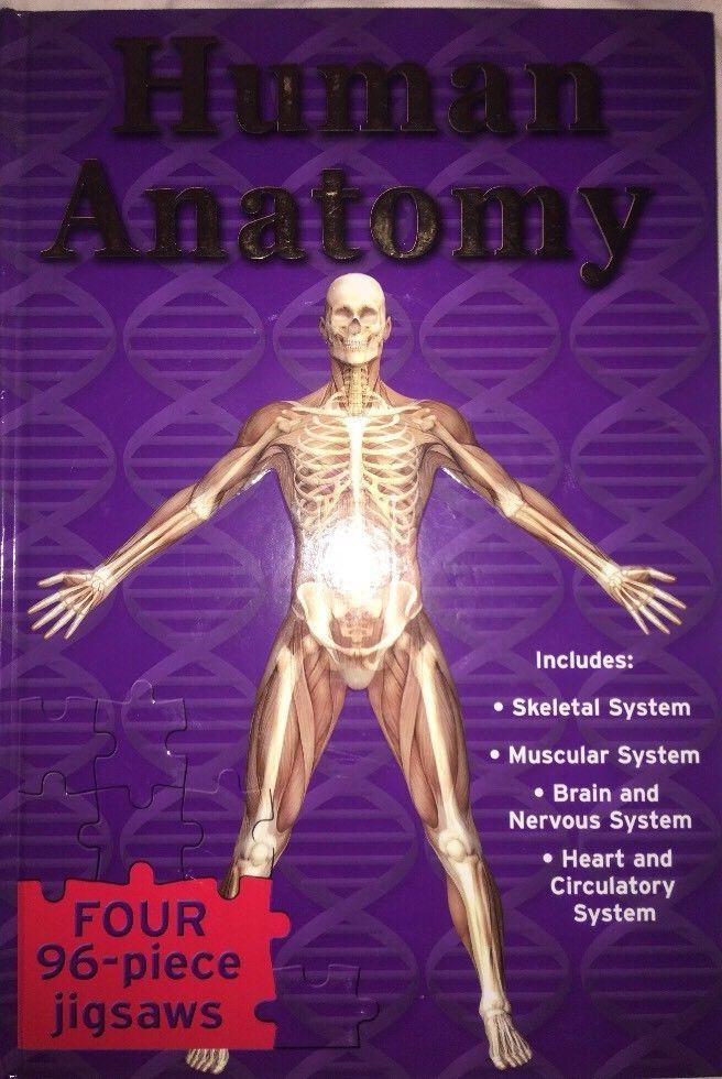 Human Anatomy Puzzle Book Jigsaw Skeleton Bone Heart Nervous Brain