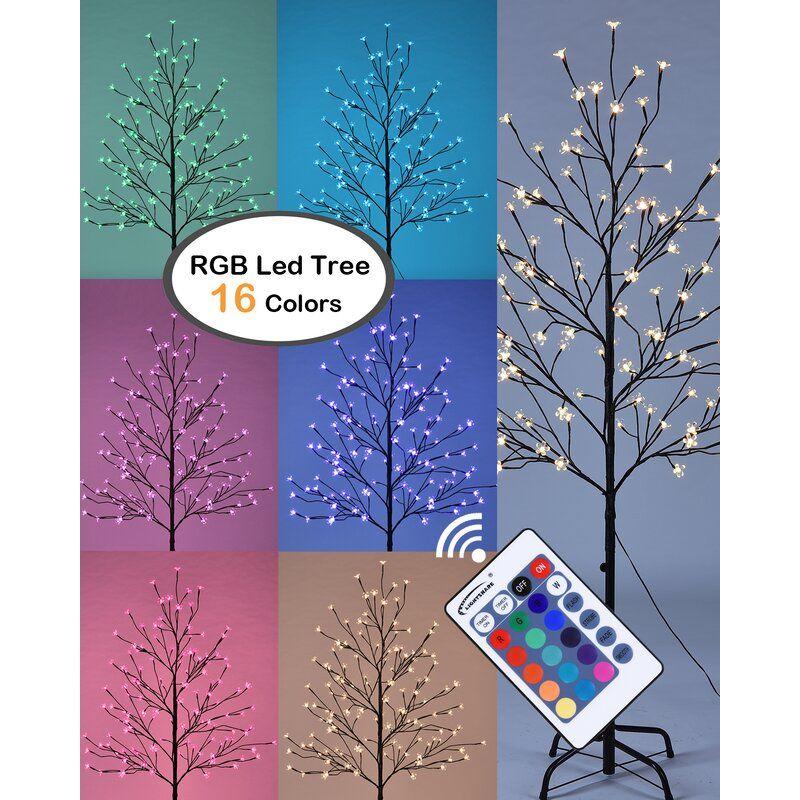 Cherry Blossom Lighted Tree 144 Light Lighted Tree In 2021 Cherry Blossom Light Tree Tree Lighting Led Star Lights