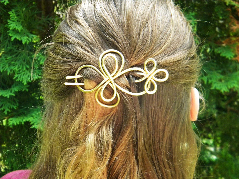 Brass+Hair+Fork+Hair+Slide+Hammered+Brass+Hair+by+ElizabellaDesign,+$25.00