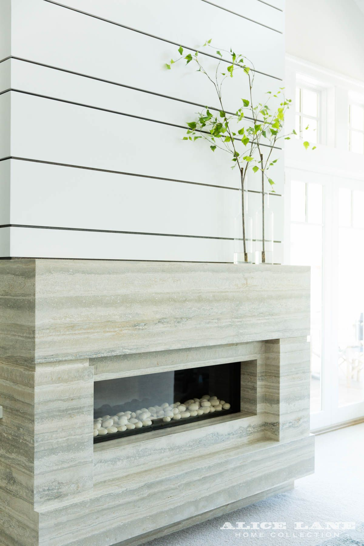 coastal contemporary alice lane linear fireplaces pinterest