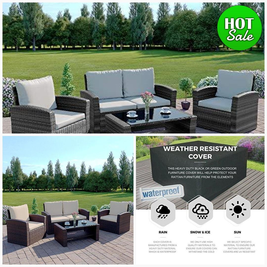 Awe Inspiring Rattan Outdoor Garden Patio Conservatory 4 Seater Sofa And Ibusinesslaw Wood Chair Design Ideas Ibusinesslaworg