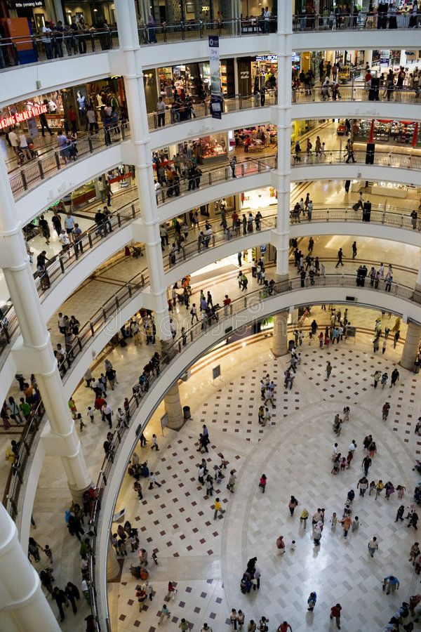 Shopping Crowd Image of crowds of people shopping at Suria KLCC Shopping Comple