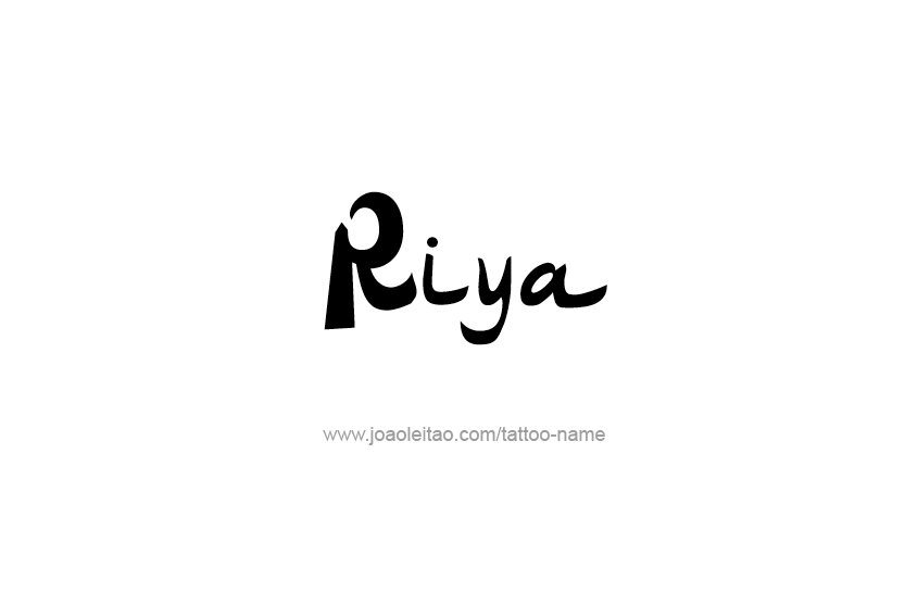 Riya Name Tattoos Image