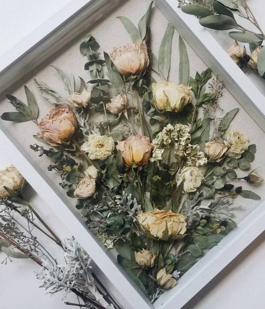 Photo of Wedding Bouquet Shadow Box – Pressed Flower Shop