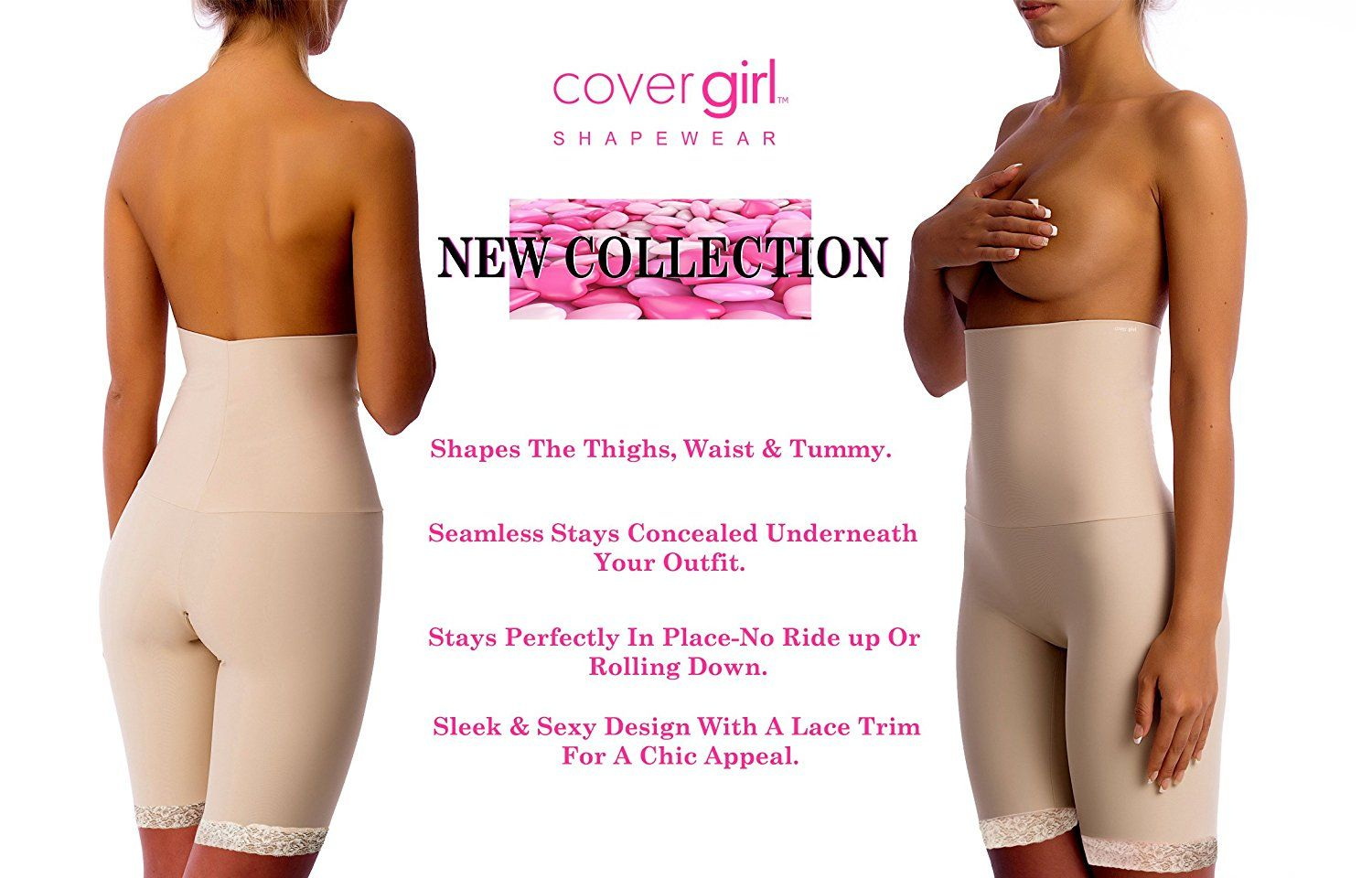 a7ee3e405d72f Cover Girl Shapewear CoverGirl High Waist Thigh Slimmer with Lace ...