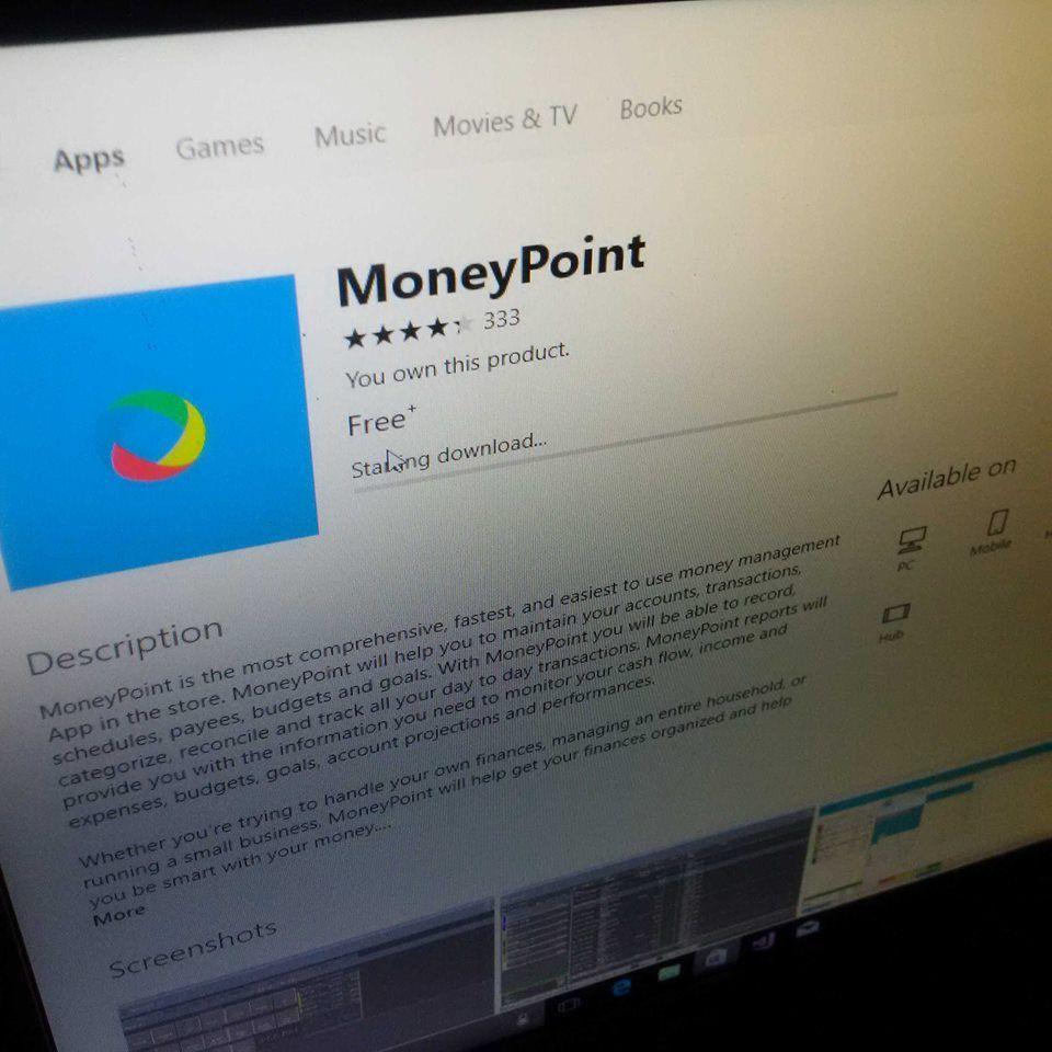 Windows app on Microsoft Store MoneyPoint Money